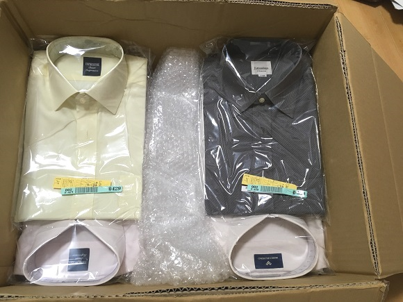 プラスキューブの梱包~ワイシャツへの配慮!