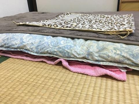 おすすめ事後処理1:布団にバスタオル