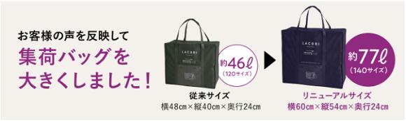 ラクリの集荷バッグ