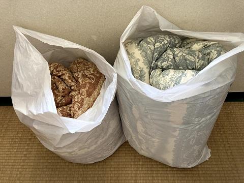 フレスコの布団梱包