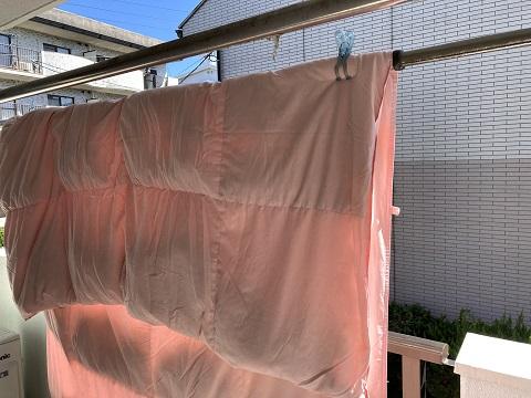 布団の天日干し